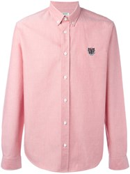 Kenzo Mini Tiger Button Down Shirt Pink Purple