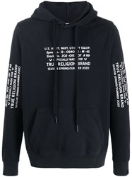 True Religion Relaxed Fit Logo Print Hoodie 60
