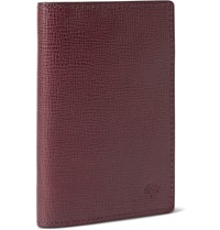 Mulberry Cross Grain Leather Cardholder Burgundy