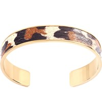 Aspinal Of London Cleopatra Skinny Leopard Print Bangle M
