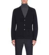 John Smedley Oxland Button Up Wool Cardigan Midnight