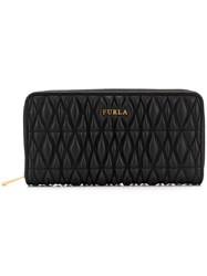 Furla Cometa Zip Around Wallet Black
