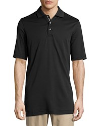 Bobby Jones Pima Cotton Short Sleeve Polo Shirt Black