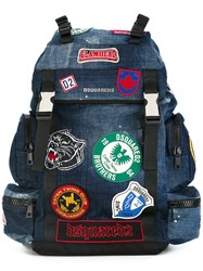 Dsquared2 Akira Patch Detail Backpack Blue