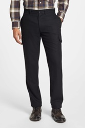 Grayers 'Russel' Slim Fit Wool Cargo Pants Black