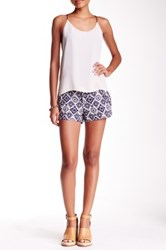 Jolt Ikat Linen Blend Twill Short Juniors Multi