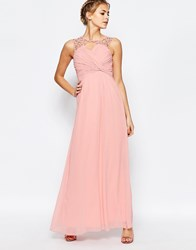 Little Mistress Sweetheart Maxi Dress With Pleated Bust Light Pink