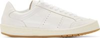 Umit Benan White Leather Classic Tennis Shoes