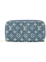 Louis Vuitton Vintage Zippy Wallet Blue