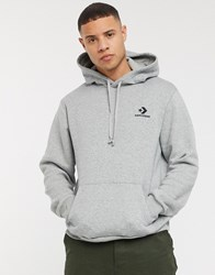 Converse Small Logo Hoodie In Grey