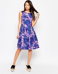 Emily And Fin Emily And Fin Ruby Dress In Floral Print Purple
