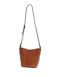 Frye Harness Stud Leather Crossbody Bag Rust