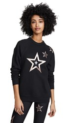 Ultracor Boyfriend Duochrome Pop Star Sweatshirt Nero Brushed Rose