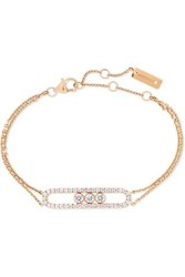 Messika Move Classic 18 Karat Pink Gold Diamond Bracelet Rose Gold