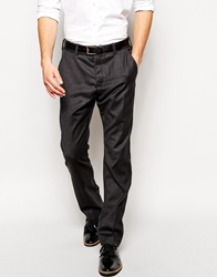 French Connection Wool Trouser In Slim Fit Charcoal