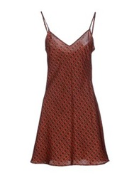 Laura Urbinati Short Dresses Rust
