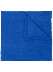 Allude Frayed Scarf Blue