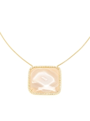 Kimberly Mcdonald Agate And Yellow Gold Pendent Necklace Nude And Neutrals