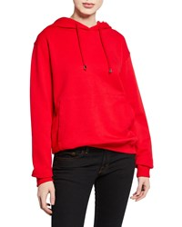 Notify Jeans Hooded Sweatshirt With Kangaroo Pocket Red
