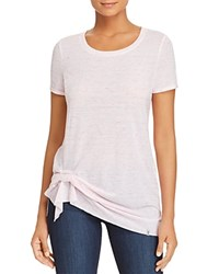 Marc New York Performance Space Dyed Cinched Hem Tee Pink Passion
