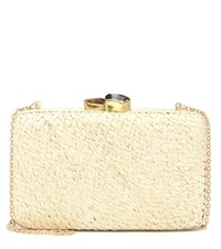 Kayu Grae Straw Clutch White
