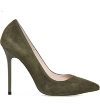 Office Onto Suede Courts Khaki Kid Suede
