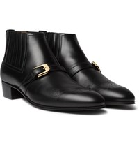 Gucci Worsh Leather Boots Black