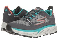 Skechers Go Trail Ultra 4 Charcoal Teal Men's Running Shoes Gray