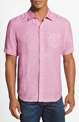 Men's Tommy Bahama 'Party Breezer' Island Modern Fit Short Sleeve Linen Sport Shirt