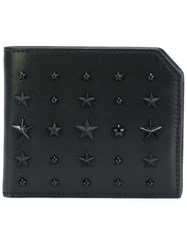 Jimmy Choo Studded 'Albany' Billfold Wallet Men Leather Metal Other One Size Black
