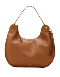 Vince Camuto Chana Leather Hobo Bag Chesnut Snow