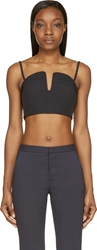Opening Ceremony Black Court Bonded Sweetheart Bustier