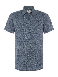 Paul Smith Men's Ps By Short Sleeve Marble Print Shirt Teal