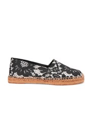 Dolce And Gabbana Printed Canvas Espadrilles Black