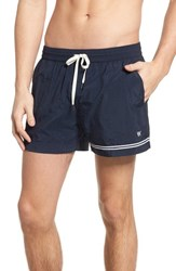 Danward Solid Swim Trunks Navy