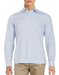Baffin Subtle Diamond Print Sportshirt Oxford Blue