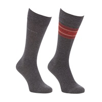 Boss Logo Boss Stripe And Solid Socks Pack Of 2 Grey Red