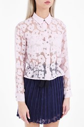 Paul Joe Sister Women S Dorothee Daisy Lace Shirt Boutique1 Pink