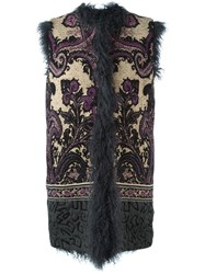 Etro Fur Gillet Multicolour