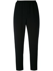Stella Mccartney Drop Crotch Trousers Women Spandex Elastane Acetate Viscose 38 Black
