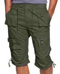 Sean John Classic Flight Cargo Shorts Grape Leaf