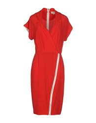 Band Of Outsiders Short Dresses Red