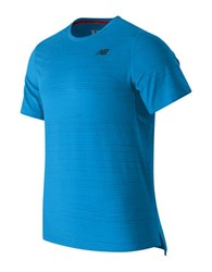 New Balance Max Speed Short Sleeve Top Barracuda