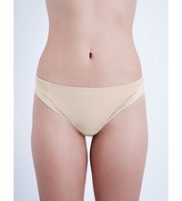 Implicite Neon Satin Thong Nude