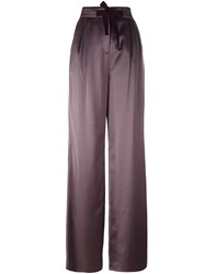 Etro High Waisted Drawstring Trousers Pink And Purple