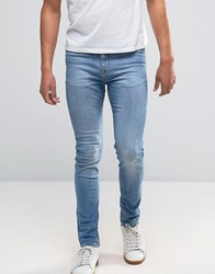 New Look Skinny Jeans In Light Wash Blue Pale Blue