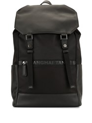 Shanghai Tang Drawstring Leather Backpack 60