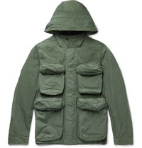 Nemen Slim Fit Shell Hooded Field Jacket Green