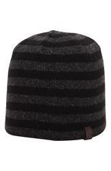 Original Penguin 'Ashmore' Stripe Knit Cap Black