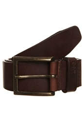 Lee Satinato Belt Braided Belt Dark Brown